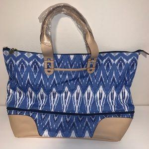 Stella & Dot - Indigo Ikat Getaway Bag